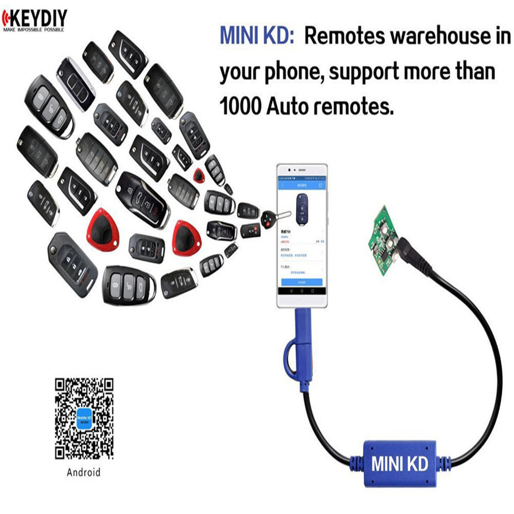 Mini KD Remote Key Maker/Generator Warehouse in Your Phone Support Android  Device Make More Than 1000 Auto Remotes